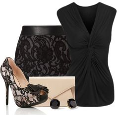 Nude & Black, created by menthie-nicole-gomes on Polyvore