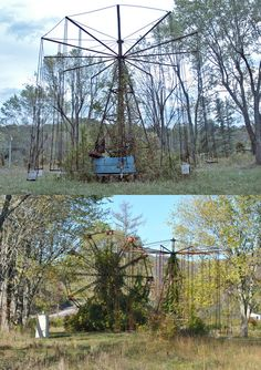 the things of spooky dreams.Take a creepy spooky tour inWest Virginia's abandoned Lake Shawnee Amusement Park. Abandoned Mansions, Abandoned Buildings, Abandoned Places, Abandoned Castles, Abandoned Theme Parks, Abandoned Amusement Parks, Abandoned Hospital, Spooky Places, Haunted Places