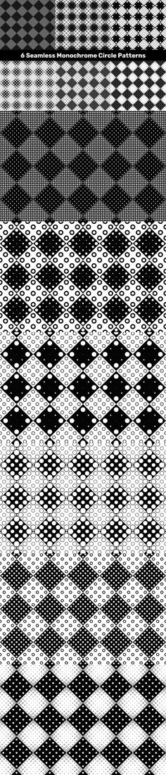 6 Seamless Monochrome Circle Patterns #repetitive #background #VectorImage #vector #PatternSets #BackgroundBundles #abstractseamlessbackground #PremiumVectorBackgrounds #backgroundvectorornate #repetition #CheapVectorPatterns #CheapVectorPattern #DiscountPatterns #VectorPatterns #geometry #CheapPattern #brochure #PatternSets #AbstractGraphics