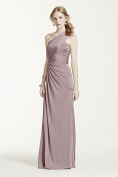 MORE COLORS Long One Shoulder Jersey Gown Style F15969 In Store & Online $159.00