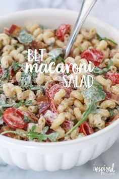 BLT Macaroni Salad   inspiredbycharm.com