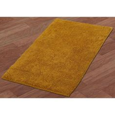 Soft and Plush Pile Vivid Gold Natural Fiber Cotton Bath Rug 30 x 50 Inches #BathRug #CottonRug #BathMat #SoftMat #DoorMat #Mat #Rug #SkidResistant #NonSlip #Home #Kitchen #Bathroom #Bath