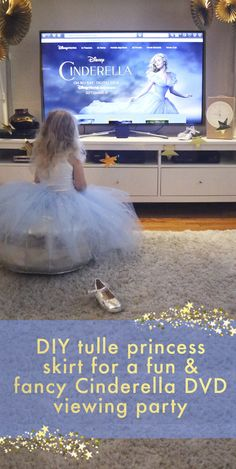 Make a home viewing party of Cinderella extra special with a DIY tulle tutu!