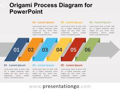 Origami Process Diagram for PowerPoint