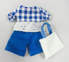 Doll outfit: Top shorts and purse for doll by JoellesDolls on Etsy
