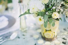 Let me transport you this afternoon to an Italian wedding extravaganza. This fresh and vibrant shoot is actually located in the UK but it has all the feeling of Lemon Centerpieces, Wedding Centerpieces, Wedding 2017, Wedding Summer, Summer Weddings, Wedding Color Schemes, Wedding Colors, Wedding Ideas, Wedding Flower Decorations