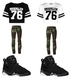 """""""camo swag"""" by youngsavagesyd ❤ liked on Polyvore featuring Boohoo and Harvey Faircloth"""