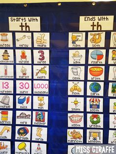 Digraphs sort where kids sort words that start with the TH sound or end with the TH sound and more fun ideas on this post!