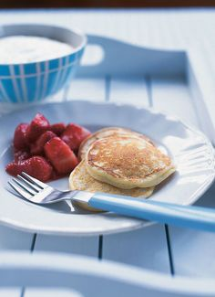 Ricotta pancakes recipe. Delicious for breakfast or brunch with a little jam and powdered sugar. | Nigella Lawson