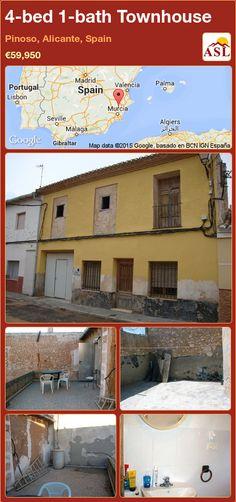 4-bed 1-bath Townhouse in Pinoso, Alicante, Spain ►€59,950 #PropertyForSaleInSpain