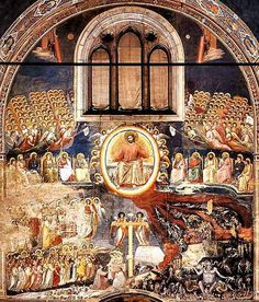 Giotto di Bondone, The Last Judgment, Cappella Scrovegni (Arena Chapel), Padua. Renaissance Kunst, Renaissance Paintings, Italian Renaissance, Religious Paintings, Religious Art, Fresco, The Last Judgment, Art Et Architecture, Italian Paintings