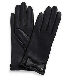 Tory Burch | Leather Bow Glove #toryburch #gloves