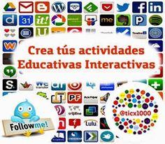 20 HERRAMIENTAS PARA CREAR ACTIVIDADES EDUCATIVAS INTERACTIVAS.