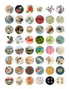 "The Sum Of All Crafts: Sunday Digital Download - 4 8""x10"" printable sheets, free. These are all 1"" in size and dedigned to be used in bottle caps."