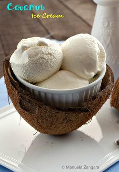 Coconut Ice Cream- made with 3 ingredients only!