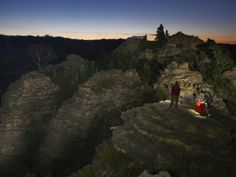 Pagoda Rocks Present a Wonderland of Slots for Canyoneers to Explore Photographic Print by Carsten Peter at Art.com