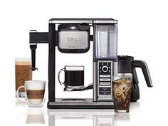 Ninja Coffee bar Brewer System with Stainless Thermal Carafe Coffee Brewer, Iced Coffee, Coffee Drinks, Cappuccino Machine, Coffee Machine, Coffee Type, Coffee Shop, Coffee Concentrate, Pod Coffee Makers