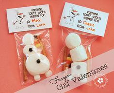 disney classroom ideas | Frozen Olaf Valentines from One Creative Mommy