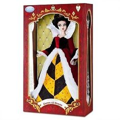 Black Friday Disney Alice in Wonderland Exclusive 17 Inch Limited Edition Doll Figure Queen of Hearts from Disney Queen Of Hearts Disney, Alice In Wonderland Doll, Disney Barbie Dolls, Disney Brands, Disney Products, Disney Artists, Collector Dolls, Disney Villains, Toys For Girls