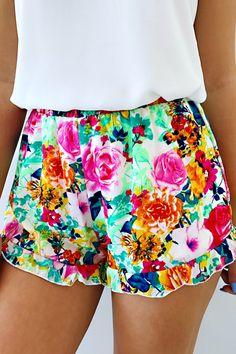 Sun Showers Shorts: Multi