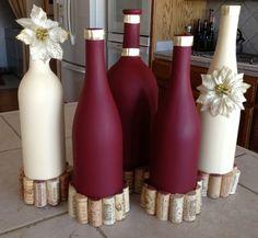 decorar botellas de vino con pintura