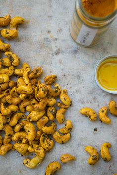 Turmeric Cashews tossed with cayenne, nori, and sesame. Inspired by The Good Gut written by Stanford researchers Justin and Erica Sonnenburg. Keep your microbiota happy. Cashew Recipes, Turmeric Recipes, Vegetarian Recipes, Healthy Recipes, Rutabaga Recipes, Watercress Recipes, Whole Food Recipes, Snack Recipes, Cooking Recipes