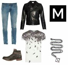 Shop the outfit on MENSWR http://www.menswr.com/outfit/125/ #beautiful #followme #fashion #class #men #accessories #mensclothing #clothing #style #menswr #quality #gentleman #menwithstyle #mens #mensfashion #luxury #mensstyle #boots #jeans #tee #jacket #necklace