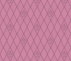 fabric, upholstery, patterns, quilting fabric, wallpaper, wrapping paper - Ivy Diamond Rose Pink fabric by wickedrefined on Spoonflower