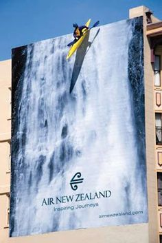 #Air-New-Zealand Using the element of danger in a physical space, real or in print.