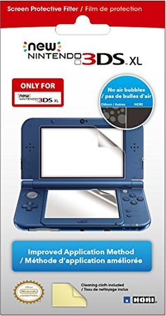 Officially licensed by Nintendo. This is the only screen protective filter you'll need to protect your NEW Nintendo XL LCD screens from dirt and scratches. Uses the same proven new and improved fi. Nintendo Ds, Nintendo Games, Wii U, Xbox One, Consoles, Playstation, Bulle D Air, New 3ds, Lg Electronics