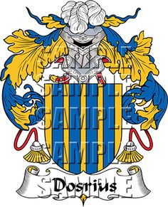 Dosrius Family Crest apparel, Dosrius Coat of Arms gifts