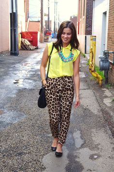 bornlippy // leopard pants