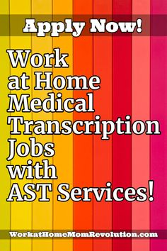 AST Services is currently hiring work at home medical transcriptionists/VR editors in the U. New MT/E graduates are encouraged to apply. are hard to find right out of Grad School let Us Help You Get your First Job in the Medical Industry! Medical Transcription Jobs, Transcription Jobs For Beginners, Medical Transcriptionist, Medical Billing And Coding, Medical Careers, Legitimate Work From Home, Work From Home Jobs, Make Money From Home, Coding Jobs