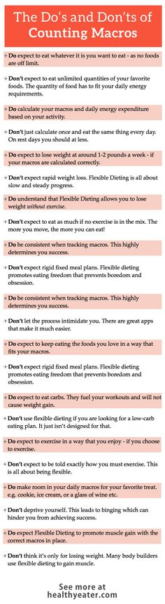 The dos and donts of counting macros.