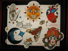 Image result for american traditional tattoo moon