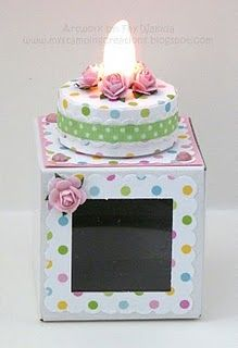 Tea Light cake with link to tutorial The page is filled with interesting projects DL