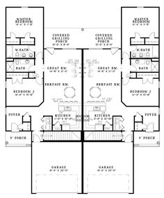 Duplex Plan chp-33733 | Pinterest | Duplex plans, House and Duplex ...