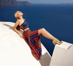 Argentinian fashion brand Falabella shot an exotic fashion editorial starring top model Valeria Mazza in the beautiful island of Santorini, Greece. The photo shoot was produced by Queen of Spade Pr…