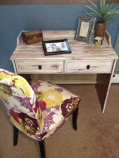 Small Desk/Writing Table Distressed French Country.