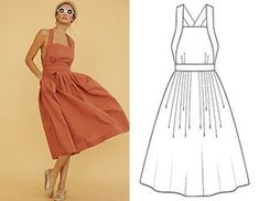 Finished summer dress with pattern - dress - mode frauen - Summer Dress Outfits Fashion Sewing, Diy Fashion, Ideias Fashion, Dress Fashion, Diy Mode, Look Vintage, Summer Dress Outfits, Diy Clothing, Mode Inspiration