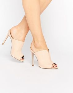 ASOS Halo heeled mules found on Nudevotion Pointed Heels, Stiletto Pumps, Low Heels, Shoes Heels, Sock Shoes, Types Of Shoes, Girls Shoes, Me Too Shoes, Heeled Mules