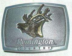 Belt Buckle - 1986 Remington Country
