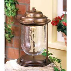 Crackle Earth One-Light Outdoor Pier Mount