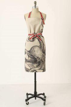 anthropologie apron #octopus