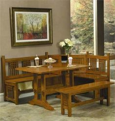 Corner Kitchen Table on Corner Booth Table Kitchen Nook Tables Trestle Kitchen Nook- pretty