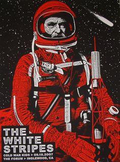 La bellezza dei poster del rock - White Stripes, 18 settembre 2007, Inglewood (California)