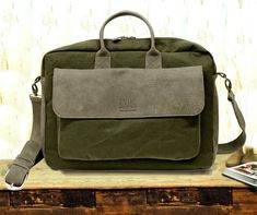 4239ee1ee3 Canvas and Leather messenger Bag Men s messenger bag mens fabric   leather  cross body 11