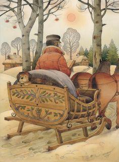 Christmas Eve Painting by Kestutis Kasparavicius - Christmas Eve Fine ...