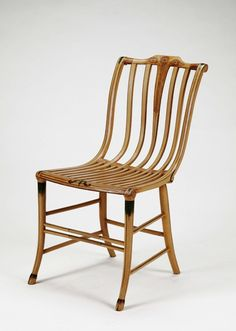 Samuel Gragg, Side Chair, about 1808. Ash, oak, maple, beechwood, and paint. Manufactured by shop of Samuel Gragg, Furniture Warehouse, Boston, MA. Denver Art Museum, The Harry I. Smookler Memorial Endowment Fund.