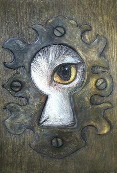 White rabbit through keyhole